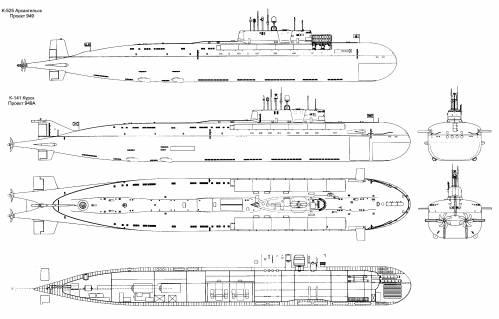 Чертеж подводной лодки курск
